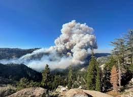 Tamarack Fire burning in Alpine County