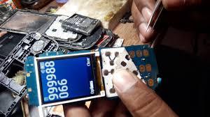 Samsung e1282t keapad not working - YouTube