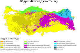 turkey climate map. Plain Map Kppen Climate Types Of Turkey On Turkey Climate Map P