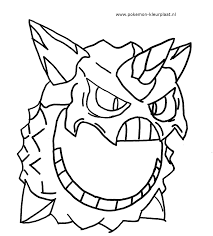 Small Picture Mega Glalie primalgroudon pokemon coloringpage