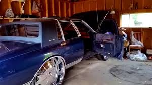 1989 Chevy Caprice LS Brougham squatting 28s - YouTube