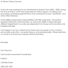 Sample Employment Letters Of Recommendation Employee Letter Of Recommendation Template Recommendation Letter
