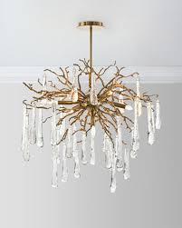 brass and glass teardrop 7 light chandelier