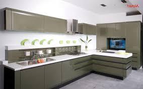 Kitchen:Modern Kitchen, Twin Islands, Marble Bench Top Simple But Sleek  Kitchen With