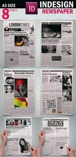 Newspaper Template Indesign Adobe Indesign Cc Newsletter Templates 6 Free Newspaper Template