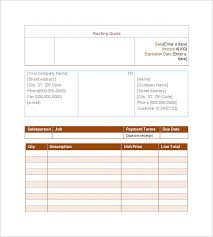 price estimate template roofing invoice templates 7 invoices samples excel debt