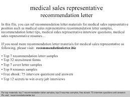 medical sales representative recommendation letter medical sales representative jobs