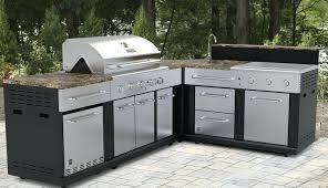 outdoor kitchen kits diy island costco flame metal modular wooden dimensions beautiful