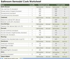 Kitchen Remodeling Templates Kitchen Remodeling Budget Spreadsheet Remodel My Home Dream