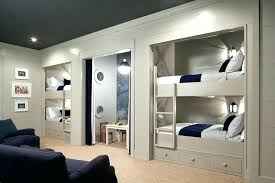 bunk beds built into wall in how to build 4 the