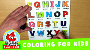 Popular abc coloring of good quality and at affordable prices you can buy on aliexpress. Alphabet Coloring Page For Kids Maple Leaf Learning Playhouse Youtube