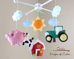 farm mobile baby crib mobile baby mobile handmade nursery decor
