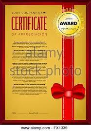 certificate design luxury golden shapes diploma template  ornate decoration golden certificate design stock photo