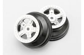 <b>Диски Traxxas SCT</b> Beadlock Wheel Satin Chrome/Black HEX12mm ...