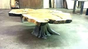 tree stump nightstand tree stump coffee table with glass top tree stump coffee table with glass