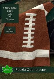 25+ unique Sports quilts ideas on Pinterest | Old football shirts ... & Rookie Quarterback quilt pattern - PDF instant download - includes 4 sizes:  baby lap twin and queen size. Football sports quilt pattern Adamdwight.com
