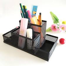 office paper holders. Home Office Desk Accessories. Mesh Cube Metal Stand Combination Holder Desktop Accessories Stationery Organizer Paper Holders