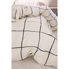 wonky grid duvet cover 129 liked on polyvore featuring home bed