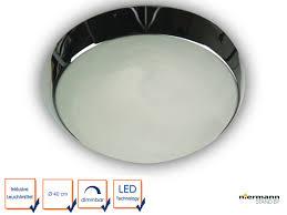 Chrom ø40cm Rund Leuchte Led Esszimmerlampe Korriodorlampe