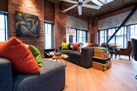 Hamilton - Eclectic Industrial contemporary-family-room