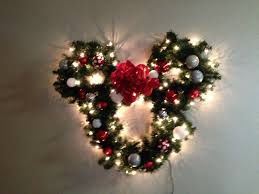 Mickey Shaped Christmas Lights My Mickey Mouse Light Up Wreath It Turned Out So Good