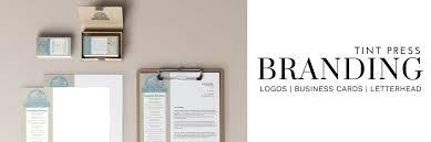 Branding Design Packages From Tint Press Design Studio