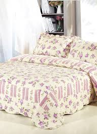 3Pcs Bedding Set 230 * 260 CM Checked Flower Printed Pattern ... & 3Pcs Bedding Set 230 * 260 CM Checked Flower Printed Pattern Polyester  Fiber Patchwork Quilt Comforter Adamdwight.com
