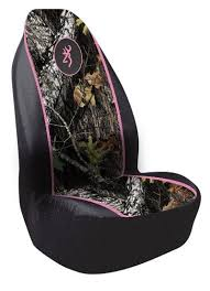 browning pink seat cover camo truck