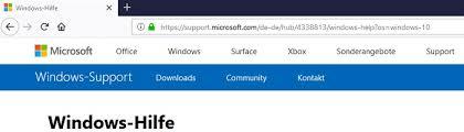 Windows 10 Hilfeseite Im Browser Nach Anmeldung Xadomir De