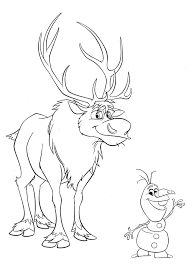 Frozen Coloring Pages Olaf And Sven Olaf Coloring Pages With Sven