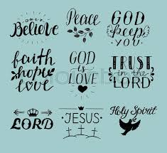 Have Faith In God Quotes Extraordinary Set Of 48 Hand Lettering Christian Quotes Jesus Holy Spirit Trust