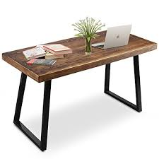 vintage style office furniture. Tribesigns 55\u2033 Solid Wood Computer Desk With Heavy-Duty Metal Base, Simple Retro Style Office Workstation Vintage Furniture H