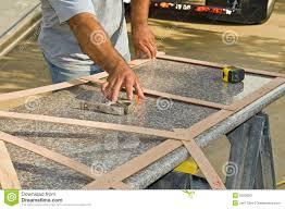 Measuring For Granite Kitchen Countertop Granite Countertop Measurement Stock Photo Image 9525820