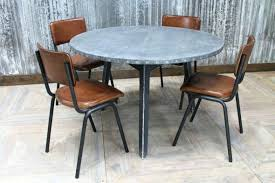 zinc top round dining table recent kitchen design ideas from zinc top round table industrial style zinc top round dining