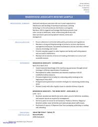 Warehouse Associate Resume Sample Warehouse associate Resume Sample Inspirational Warehouse Worker 20