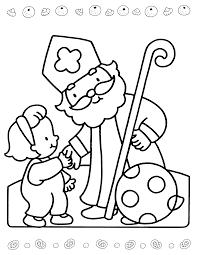 Sinterklaas Is Jarig Kleurplaat Sint Saint Nicholas Christmas