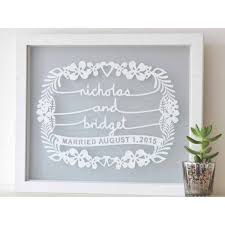 on personalized wedding gifts wall art with personalized wedding gift papercut wall art