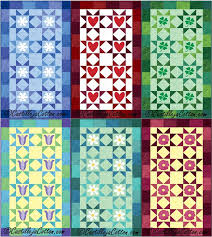 154 best Seasonal Patterns images on Pinterest | Quilt patterns ... & Applique table runner or wall hanging for January to June. Starry Seasonal  Runner One Quilt Adamdwight.com