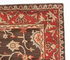 gray and red area rug fresh traditional royal wool hand tufted area rug 5 8 brown red gold for