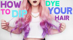 how to dip dye your hair by