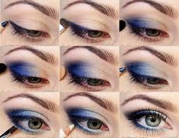 deep blue eyeshadow tutorial pinit