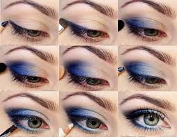 deep blue eyeshadow tutorial pinit