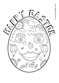 Printable Easter Coloring Pages Eggs For Kids Happy Prinables Book