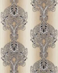 3d Barok Behang Vinyl Behang Edem 096 23 Damast Ornamenten Modern En Fraai Bruin Licht Bruin Beige Zilver Zwart 533 M2