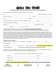 dj contract pdf info dj contract template 6 templates in pdf word excel