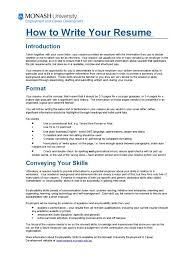 How To Write Your Resume Resume Employment
