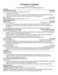 Resume Critique Applying For Financial Analyst Positions
