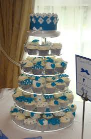 Blue And White Wedding Cupcakes In A Mix Of Lemon Chocola Flickr