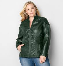 Side Ruched Pleather Jacket from Avenue & Side Ruched Pleather Jacket Adamdwight.com