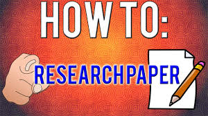 how to write a research paper simple steps